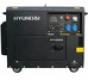 Генератор дизельный в кожухе на колесах Hyundai DHY6000SE HUYNDA